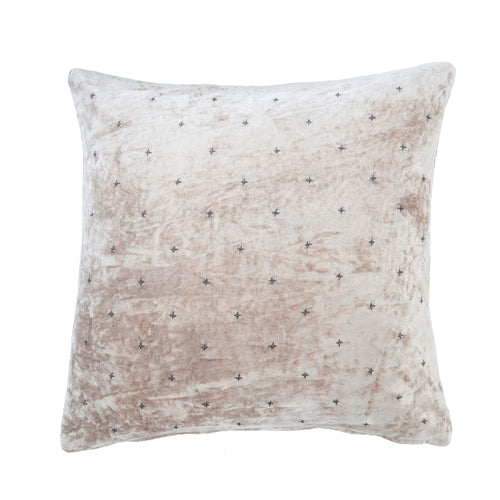 Champagne Velvet Throw Pillow