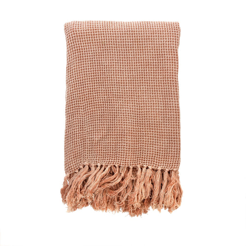Light Pink Waffle Throw