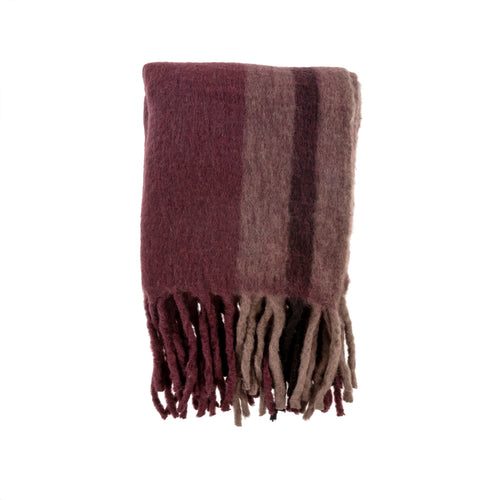 Wool Throw - Aubergine