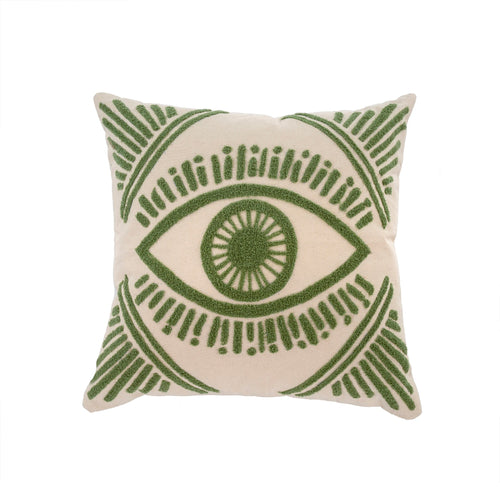 Spirit Eye Tufted Throw Pillow