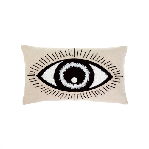 Bright Eyed Throw Pillow