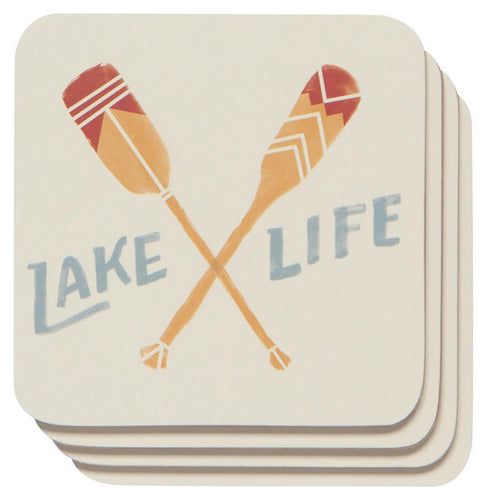 Lake Life Cork Backed Coasters