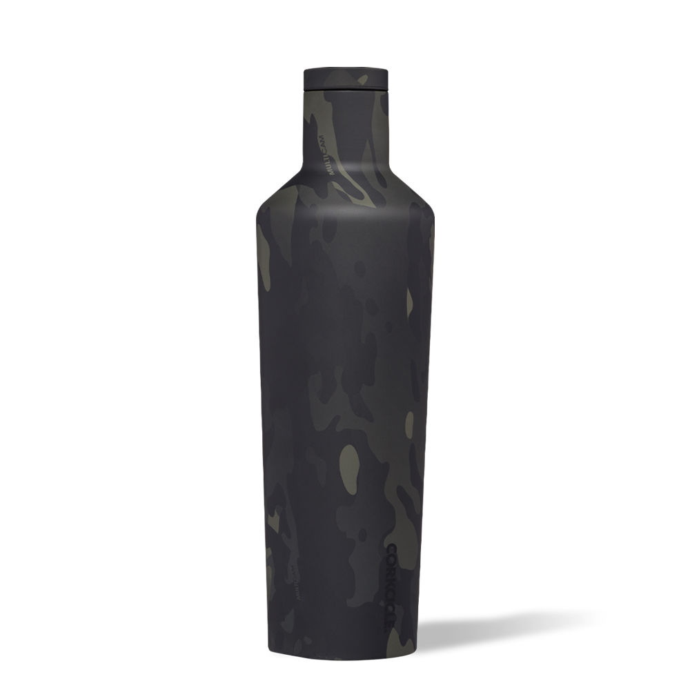 Corkcicle Canteen Black Camo 25 oz