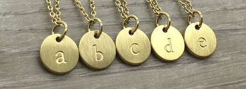 Lowercase Monogram Necklace Gold