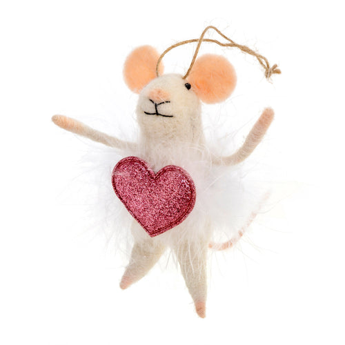 Valentina Woolen Mouse Ornament - Christmas Ornament
