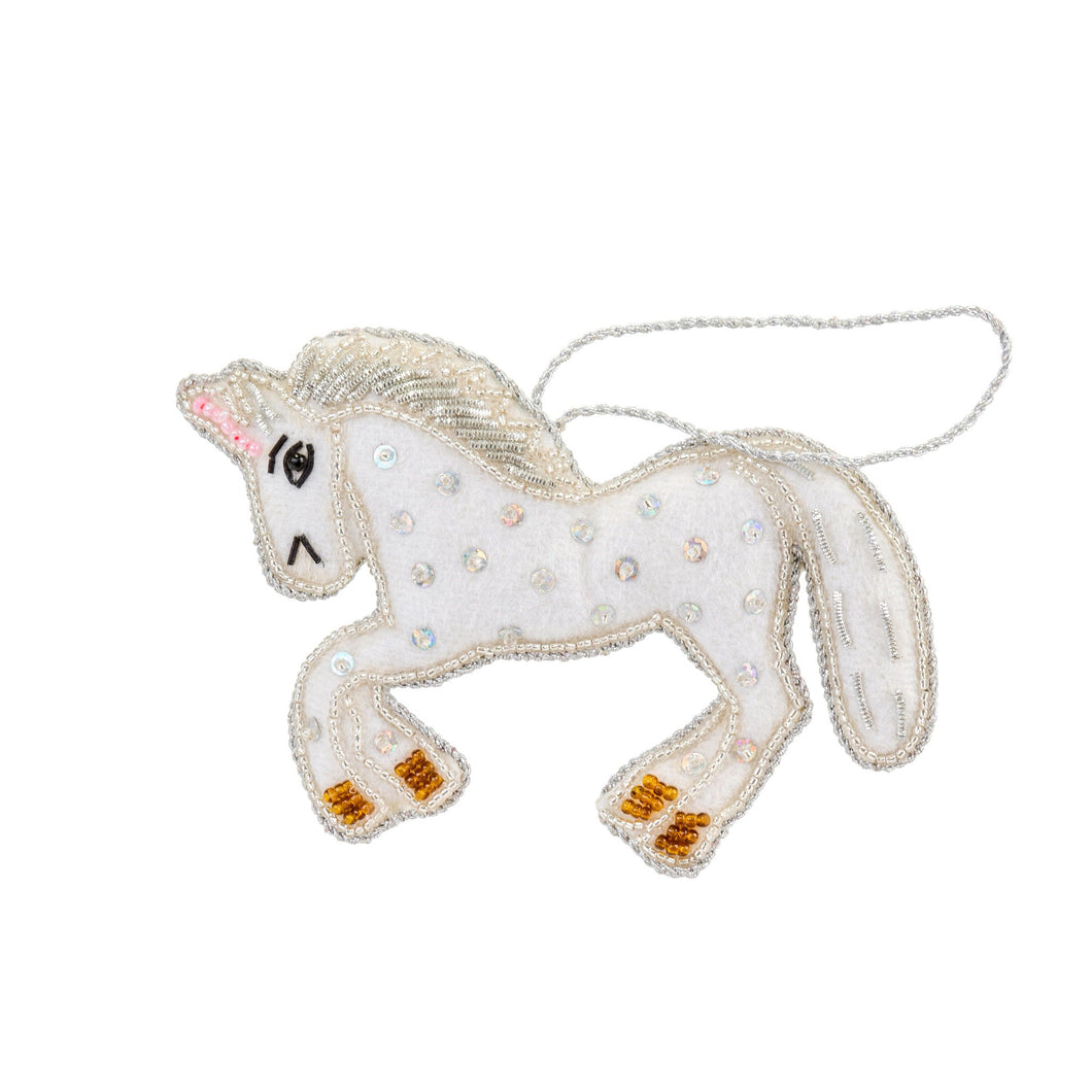 Unicorn Plush Christmas Ornament