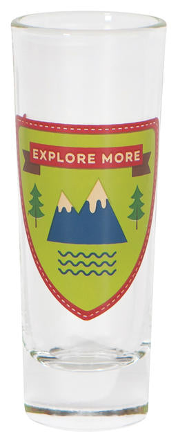 Explore More 2 oz Shot Glass