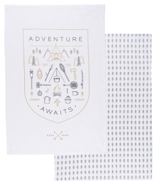 Adventure Awaits Floursack Dishtowels