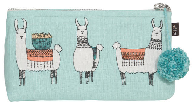 Llamarama pencil cosmetic bag Danica Canada