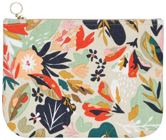 Superbloom Large Zipper Pouch