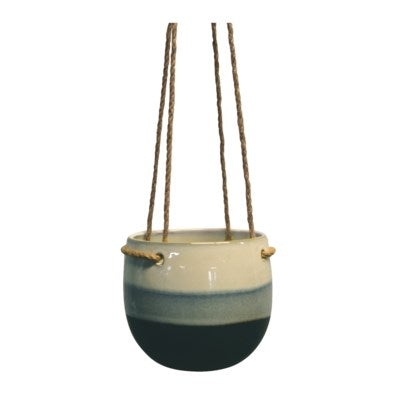 Blue Stripped Hanging Pot