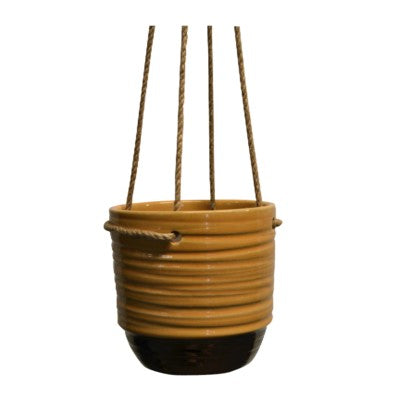 Yellow Hanging Ceramic Planter