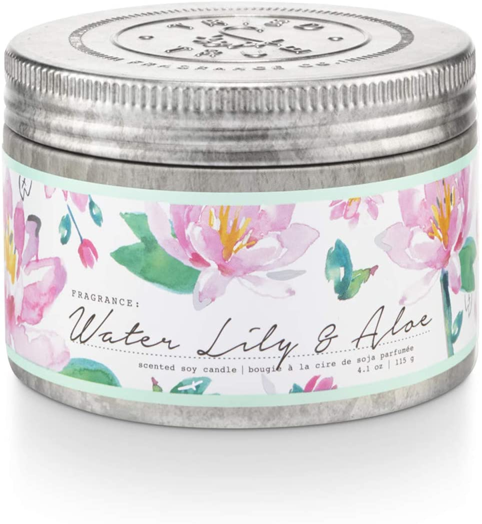 Tried & True Water Lily & Aloe Soy Candle Tin Canada