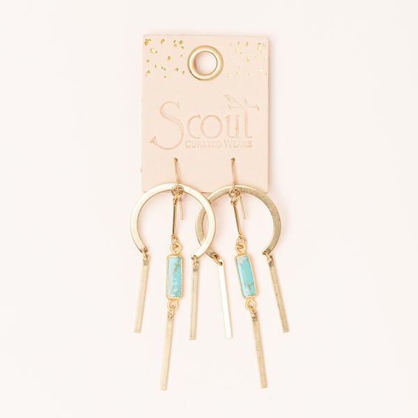Dream Catcher Earring - Turquoise