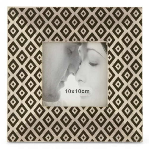 Diamond Motif Printed Picture Frame