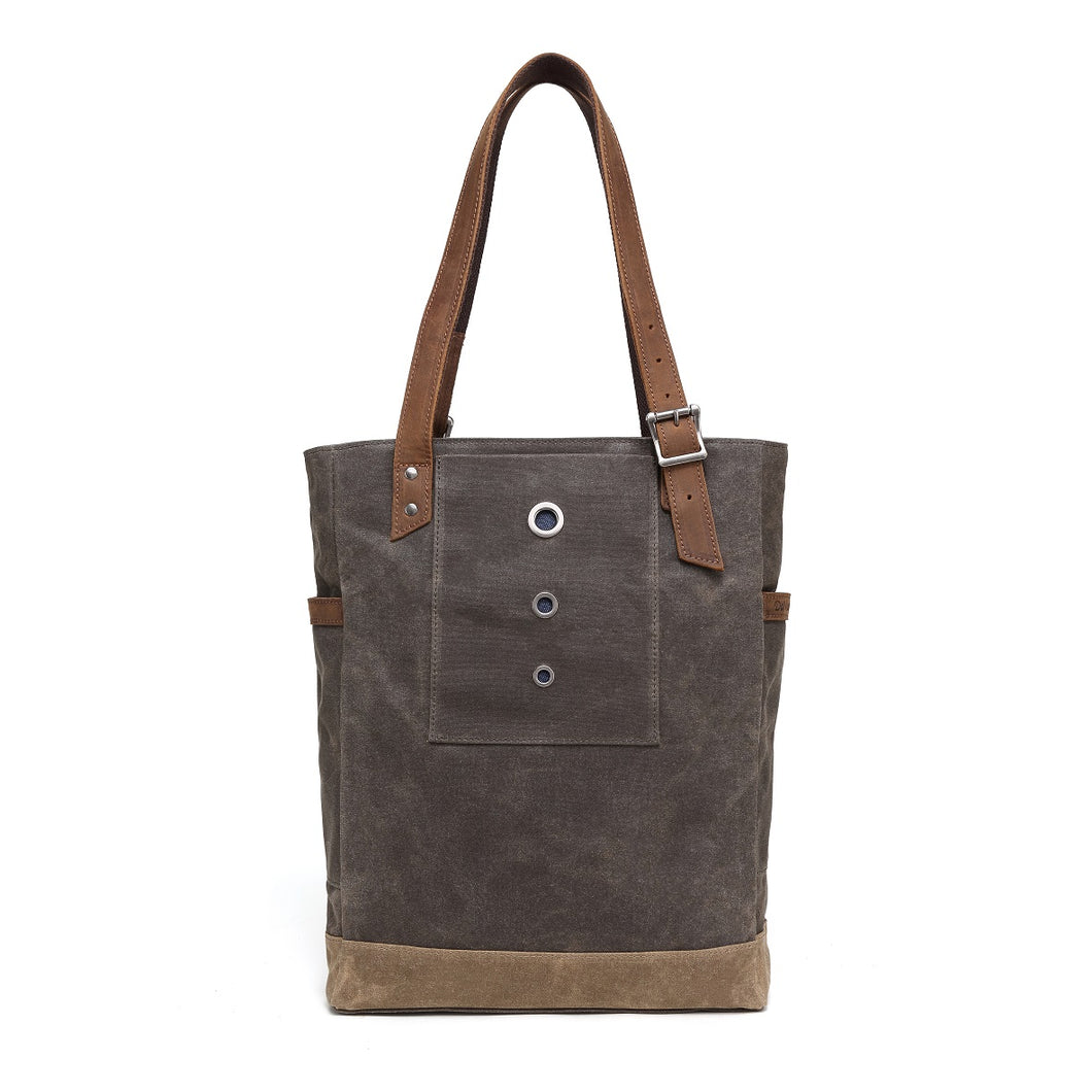 Oliver Waxed Canvas Tote Olive DaVan Canada