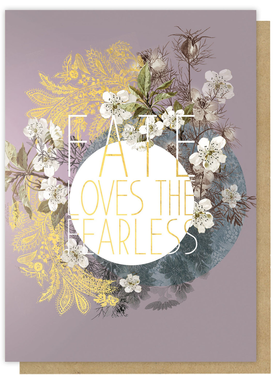 Encouragement Fearless Fate Greeting Card