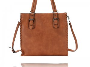 Chestnut Tote with Laptop Compartment