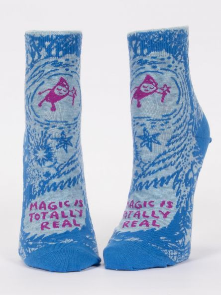 Magic Is Totally Real - Ladies Ankle Socks - Blue Q - Greatest Gift 2019