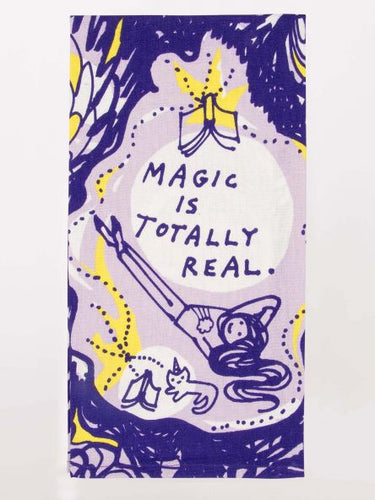 Magic Is Real Dishtowel - Blue Q