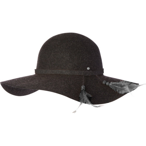 Kooringal Hats Womens Ever After Wide Brim Hat Charcoal Marle Canada