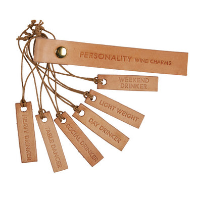 Leather Wine Charms