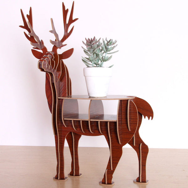 3D Puzzle DIY Wooden Model elk home Decor gift craft storage-NicheCategory