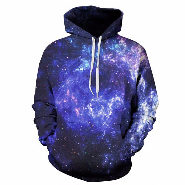 3D Space Galaxy Sweatshirts Men/Women Thin Hoodies Printed Tops-NicheCategory