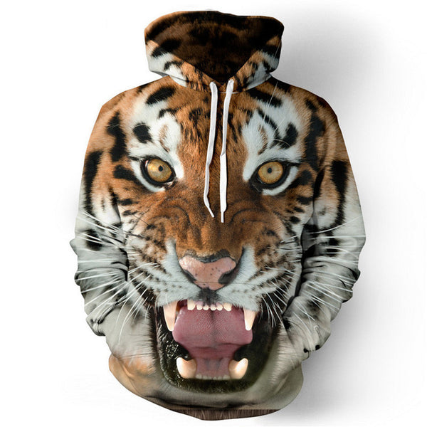 3D Tiger Lion unisex hoodies hip hop sweatshirt tracksuit pullovers-Clothing-NicheCategory