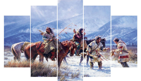 5 PCs One Set Figure (Unframed) Room Painting Wall Art Home Decoration Canvas-NicheCategory