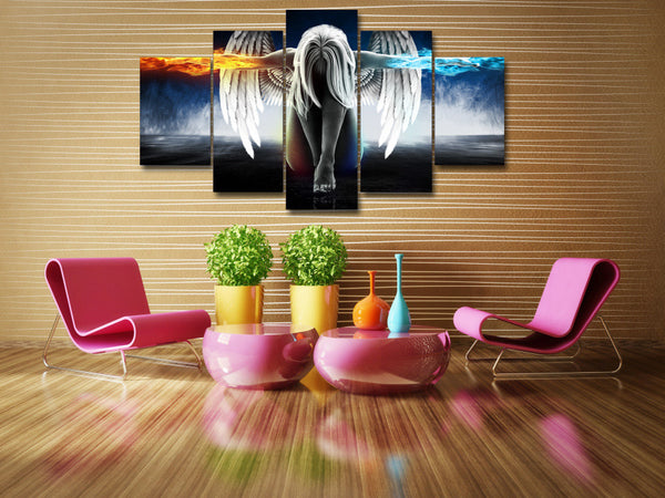 Angel girl HD printed anime demons Painting Canvas Print decor poster picture canvas Free shipping/up-874-NicheCategory