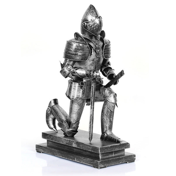 Antique Imitation Armour Warrior Rome Warriors Iron Statue Retro Craft Furnishin-NicheCategory