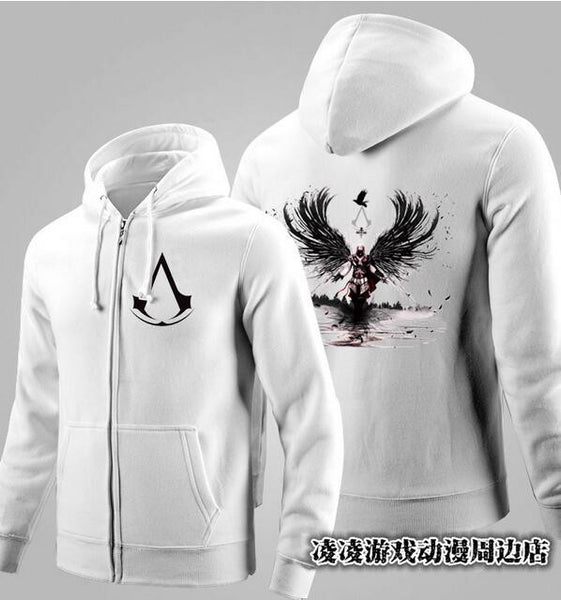 Assassins Creed 4 Autumn Winter Game Cosplay Zip Fashion Hoodies-Clothing-NicheCategory