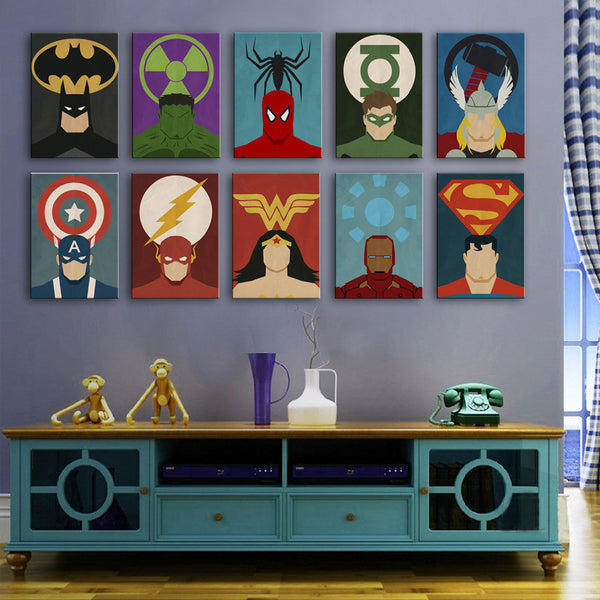 Avengers Superman Series Painting Home Decor Canvas Modern Canvas Print-NicheCategory