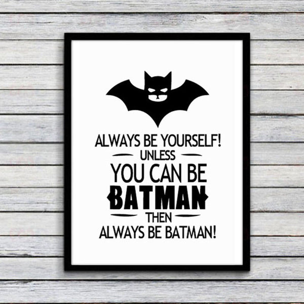 Batman Quote Canvas Art Print Poster Wall Pictures Home Decor no Frame bnw prints wall decor art not include-NicheCategory