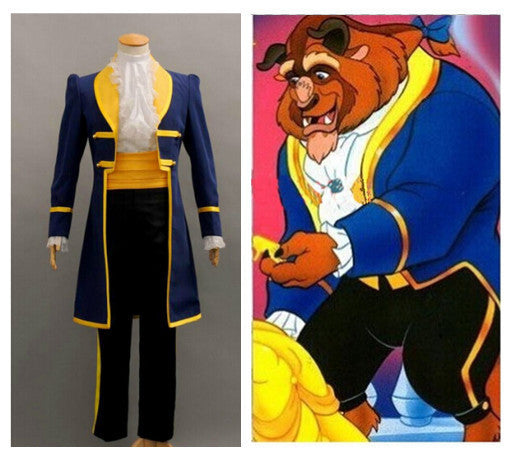 Beauty and the Beast Adult Costumes Prince Adam Men halloween Party Clothes-NicheCategory