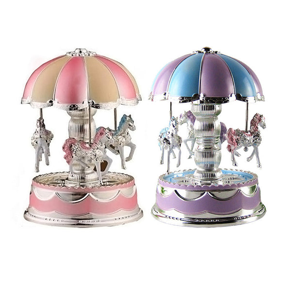 Carousel Music Box LED Light Merry-Go-Round Music Box Random Color-NicheCategory