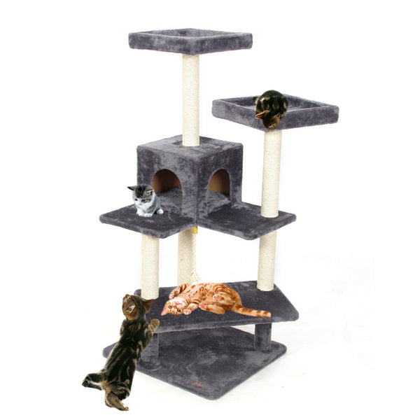Cat Jumping Scratching Wood Climbing Tree Toy Ladder Climbing Scratching Post-NicheCategory
