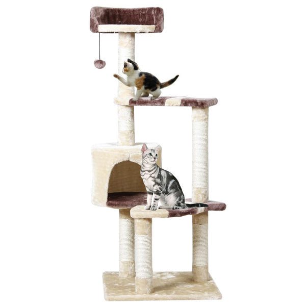 Cat Toy Scratching Post Wood Climbing Tree Cat Jumping Furniture-NicheCategory