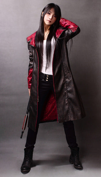 Devil May Cry DMC Pleather Coat Dante Wind Game Cosplay-Clothing-NicheCategory