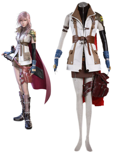 Final Fantasy 13 Thunder Thunderbolt Cosplay Costumes Animation Suit-Clothing-NicheCategory