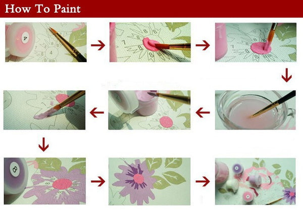 Flower Picture Painting By Numbers Modern Home Decor Frameless-NicheCategory