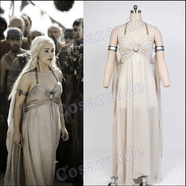 Game of Thrones A Song of Ice and Fire Daenerys Targaryen Dress / Cosplay Daenerys Targaryen Costume-NicheCategory