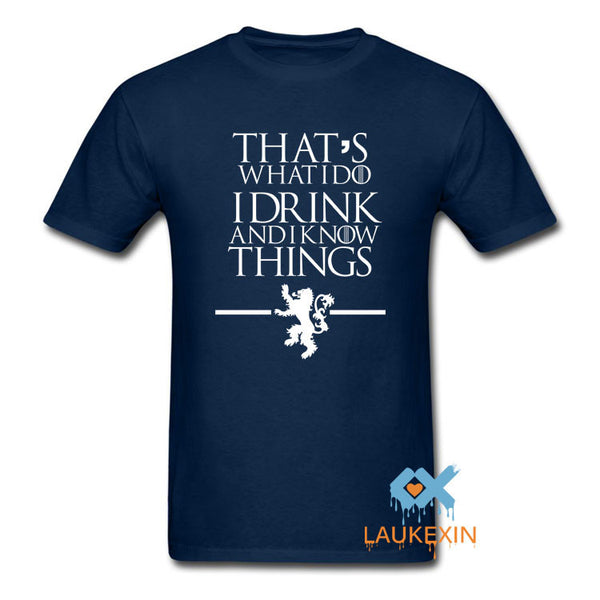 Game of Thrones TShirts That's What I Do I Drink I know Things Camisetas-NicheCategory