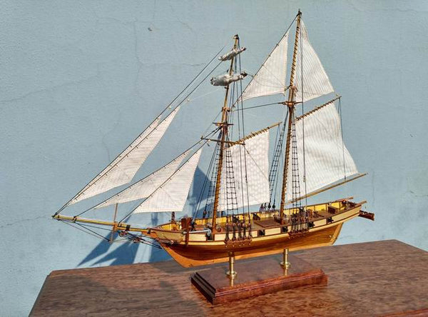 Harvey 1847 Scale 1/96 kit 3d Laser Cut Wood Model-Ship-Assembly Diy Train Hobby-NicheCategory