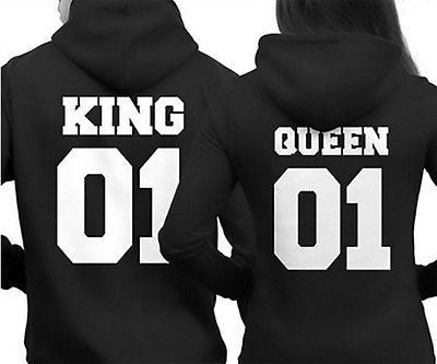 King QUEEN Couple TShirt Women Letter Tshirt Cotton Casual Tees-Clothing-NicheCategory