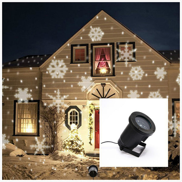 Laser Projector Lamps Snowflake Falling Waterproof LED Stage Light Outdoor-NicheCategory