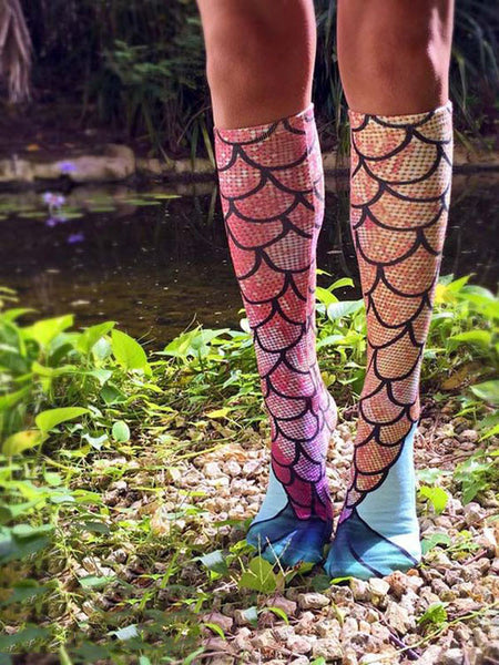Mermaid Socks Beach 3D Sockings New Women Summer Beach Socks Christmas Xmas Gift-Clothing-NicheCategory