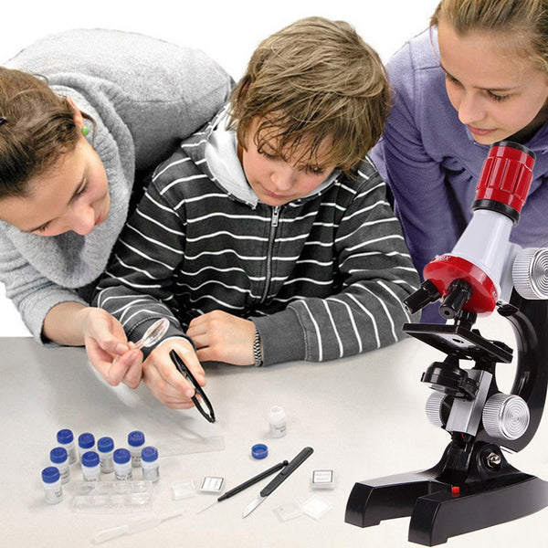 Microscope Kit Lab 100X-1200X Home School Educational Toy Students Gift-NicheCategory