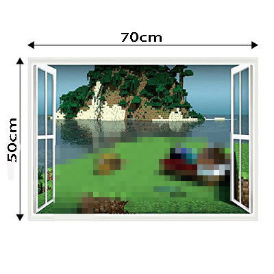 Minecraft Wall Stickers 3D Wallpapers Kids Room Decals Unique-NicheCategory